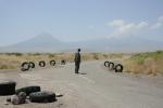 Man on the road to Ararat Maku
