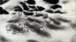 Alle Jong, Eiland met Hermit, 2019, ca.101x50 cm Ink, charcoal & aquarelle on paper