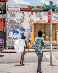 Street Crossing in Little Haiti, 2018, from the series FloodZone | Archival Pigment Print or Dye-Sublimation Print on Metal | 100 x 80 cm and 127 x 100 cm | ed. 5 + AP
