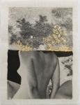 Margaret Lansink, Longing, 2019 | collage printed on Kizuki handmade Washi paper, mended with 23Kt goldleaf | 22 x 29 cm | ed. 3 + 2 AP SOLD OUT