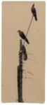 Hans Bol, Untitled #9A, negative 2007, printed 2018. Silver gelatin, toning, gold leaf, image size 23,6 x 10 cm, framed 39,5 x 34 cm. Edition 7 + 1 AP