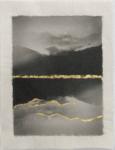 Margaret Lansink, Mono no Aware, 2019 | collage printed on Kizuki handmade Washi paper, mended with 23Kt goldleaf | 29 x 22 cm | ed. 3 + 2 AP SOLD OUT