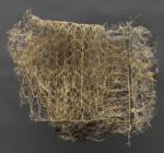 Diana Scherer, Hyper Rhizome #11, 2018, Plantrootweaving in perspex frame | 40 x 50 cm | Unique