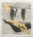 Margaret Lansink, Confuse, 2019 | collage printed on Kizuki handmade Washi paper, mended with 23Kt gold leaf | 34 x 30,5 cm | ed. 3 + 2 AP
