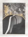 Margaret Lansink, Bimyou, 2021 | collage printed on Kizuki handmade Washi paper, mended with 23Kt gold leaf | 29 x 22 cm | ed. 3 + 2 AP