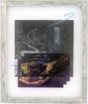 Jaya Pelupessy, Untitled #1 - Manufactured Manual #1, 2020 | Four colour exposure on the silkscreen | Aluminium silkscreen, plexiglass, wood | 73 x 62 x 5 cm | Unique