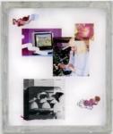 Jaya Pelupessy, Untitled #2 - Manufactured Manual, 2020 | Four colour exposure on the silkscreen | Aluminium silkscreen, plexiglass, wood | 73 x 62 x 5 cm | Unique