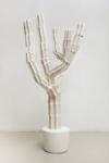 Maura Biava, Magic Heptagram #03, 2021 | Ceramic, iron, plaster, glue, silicon | 140 x 76 cm | Pedestal 60 x 57 cm, wood, glue, paint, varnish | Unique