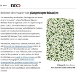 Anne Geene in NRC: Intimate observation of crushed leaves
